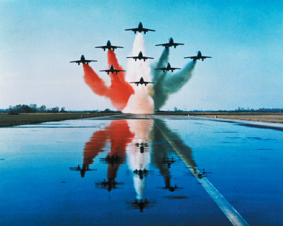 1750-9998~Airplanes-Formation-Taking-Off-Posters